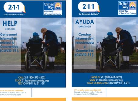 Covid19 211 Info