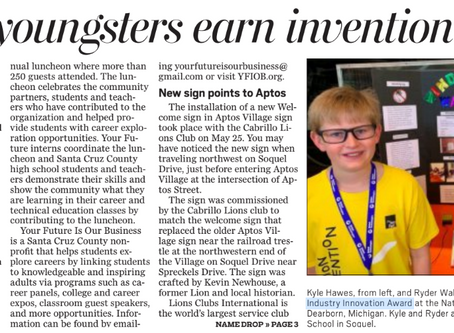 Main St Elementary Students Receive Invention Award!