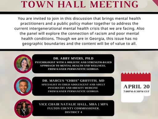 Intergenerational Mental Health and Racial Healing Town Hall Meeting