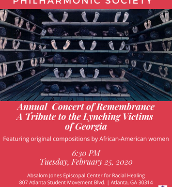 Annual Concert of Remembrance A Tribute to the Lynching Victims of Georgia