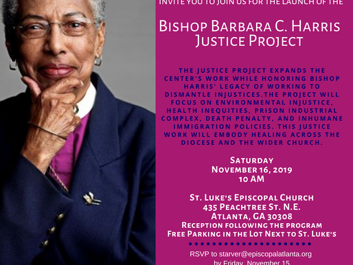 Bishop Barbara C. Harris Justice Project Launch