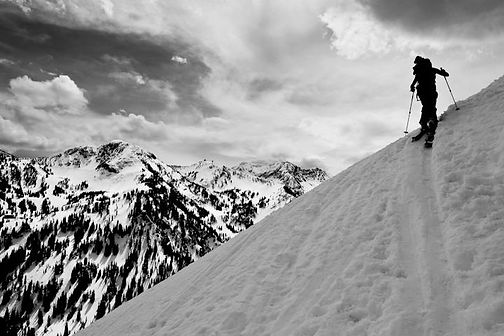 Ski Touring Little Cottonwood Canyon, Utah. 2011. Photo by Emily Unger