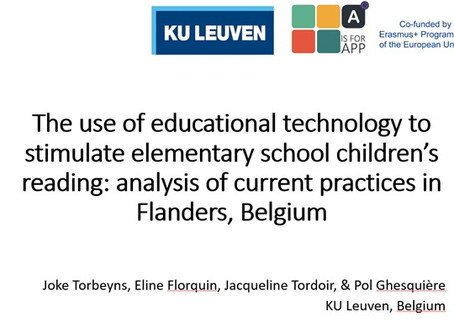 Stimulating reading through apps in Flanders, Belgium - talk presented at the EARLI conference