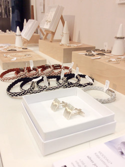 Leather bracelets and silver