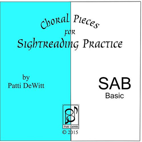 Sightreading Pieces for SAB Choir - downloadable