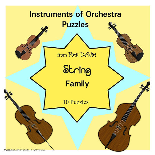 Instruments of the Orchestra Puzzles - Strings