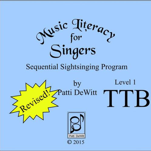 Music Literacy for Singers, Level 1, TTB - Downloadable