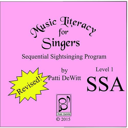 Music Literacy for Singers, Level 1, SSA - Downloadable