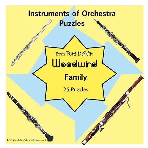 Instruments of the Orchestra Puzzles - Woodwind