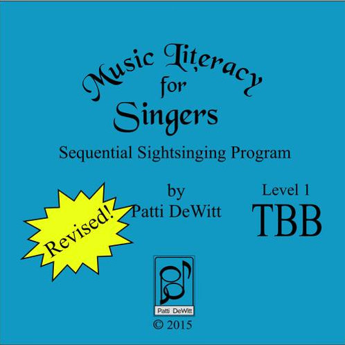Music Literacy for Singers, Level 1, TBB - Downloadable
