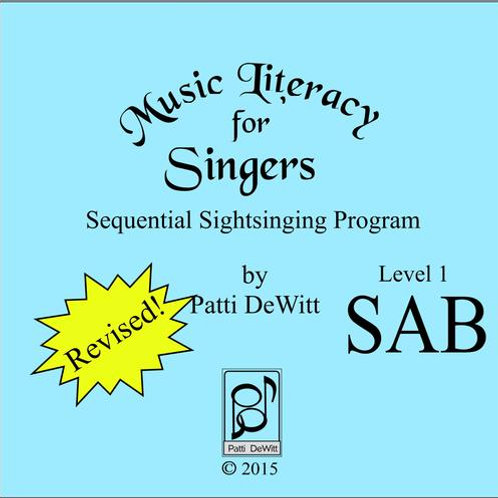 Music Literacy for Singers, Level 1, SAB - Downloadable