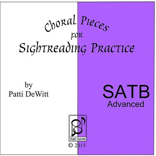 Sightreading Pieces for Advanced SATB Choir - downloadable