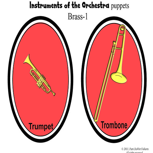 """Instruments of the Orchestra """"puppets"""" - Brass"""