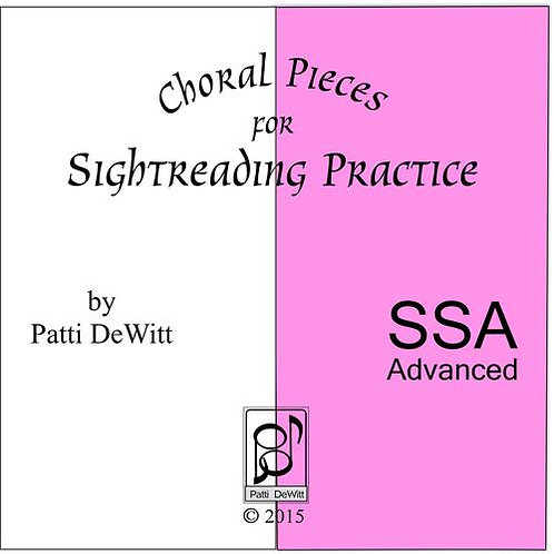 Sightreading Pieces for Advanced SSA Choir - downloadable