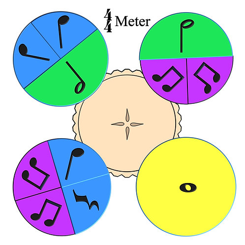 """Rhythm Pie, 4/4 meter"""