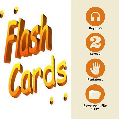 Level 2 Solfege Flashcards - Pentatonic G
