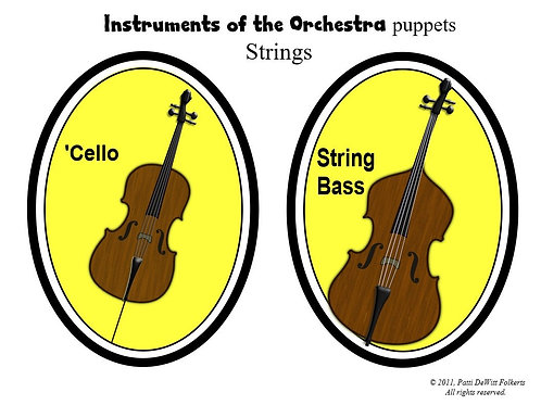 """Instruments of the Orchestra  """"puppets"""" - Strings"""