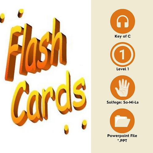 Level 1 Solfege Flashcards - So-Mi-La in C