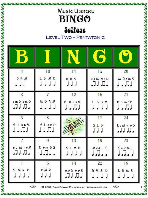 Solfege Music Literacy Bingo Level 2