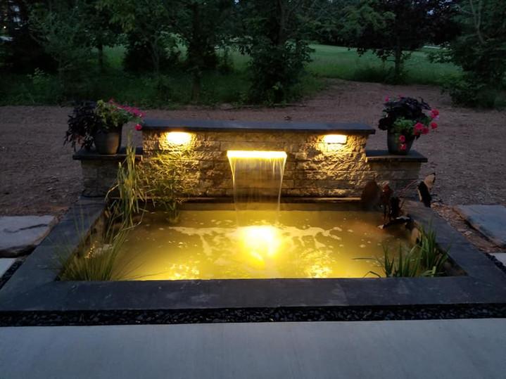 Custom Built Pond Feature