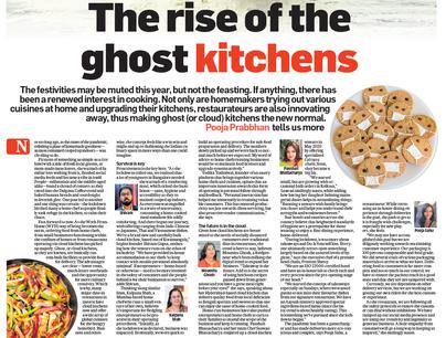 Barir Kitchen got featured in a national print media