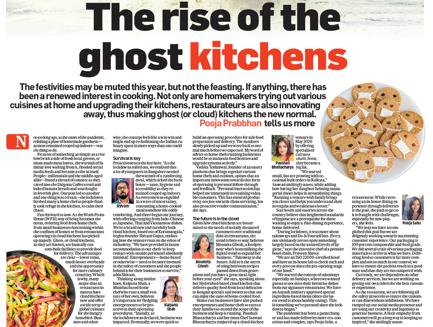Barir Kitchen got featured in a national print media