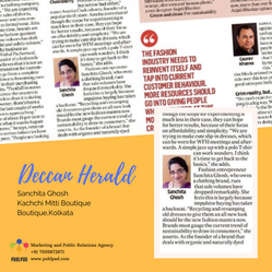 Kachchi Mitti Fashion Store got featured in a national print media