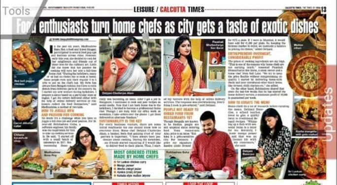 Barir Kitchen got featured in Calcutta Times