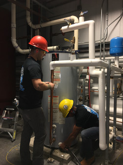 Commercial water heater replacement