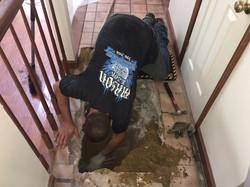 Repairing a water line
