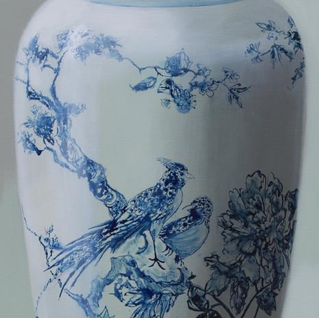 Vaas met vogels