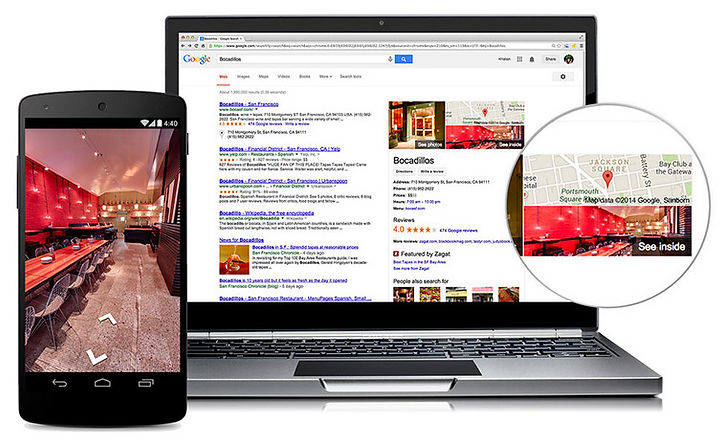 Google Business View Viewing Example