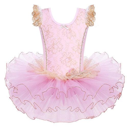 BAOHULU Girls Pink Cotton Ballet Dress