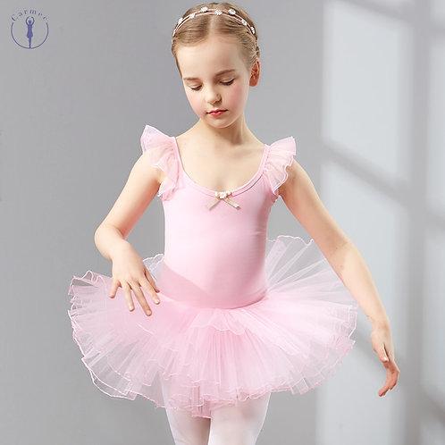 Girls Cotton and Spandex Ballet Tutu Dress
