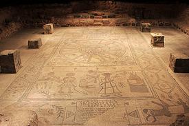 Israel antike Synagoge Bet Alpha Mosaic Abraham umd Isaak