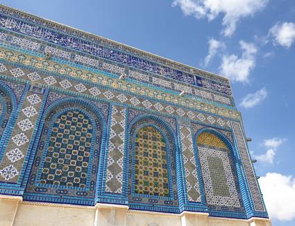 Jerusalem, osmanischer Kachelmantel des Felsendomes