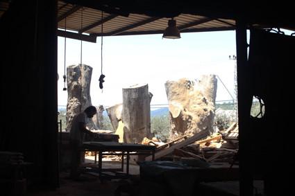 Die Werkstatt Schachar Amachas in Usfiyah