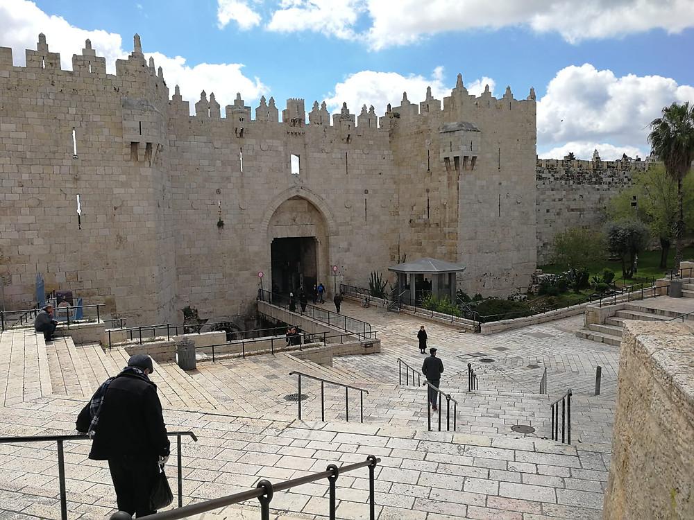 Jerusalem, der Platz vor dem Damaskustor