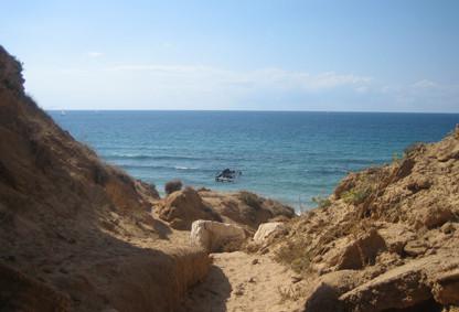 The Mediterranean Sea near Netanya