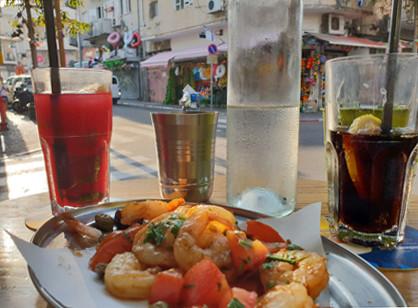 Vorspeise im Pimpinella im Tel Aviver Florentin Viertel