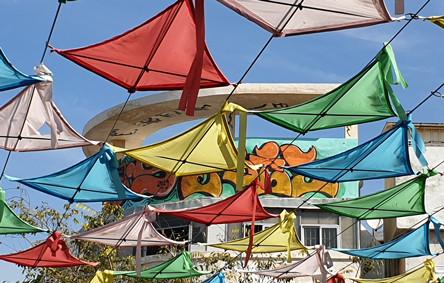 Das Gottgold-Haus auf dem Davidssternplatz in Tel Aviv