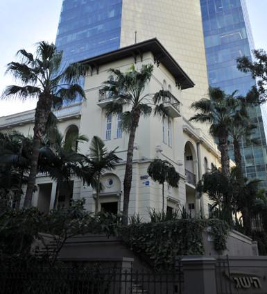 Das Haus Levin auf dem Rothschildboulevard in Tel Aviv