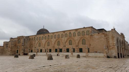 Jerusalem, al-Aqsa-Moschee von Osten