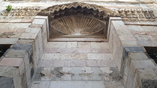 Jerusalem Altstadt: Nischenabschluß mit Muscheldekoration