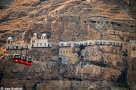 Palästina Jericho Kloster Qarantal Seilbahn