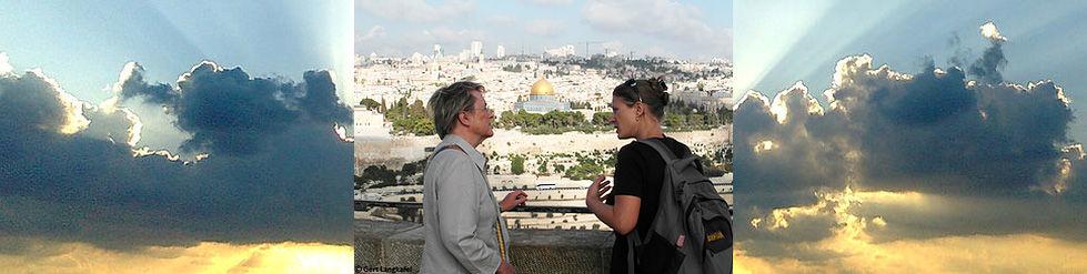 Israel Reiseleiterin Lisa Yehuda Ausblick Ölberg Felsendom