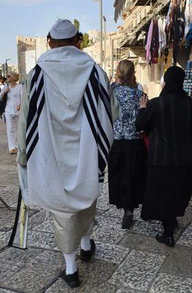 ultraorthodoxer Jude mit großem Talit
