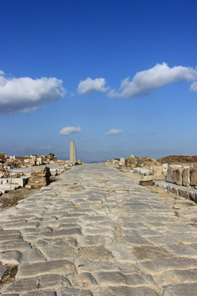 The Cardo in the antique city of Zippori/Lower Galilee