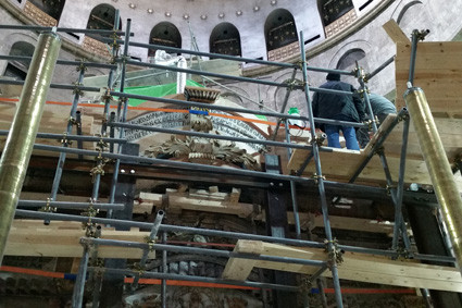 Grabeskirche: Renovierung am Jesusgrab in vollem Gang