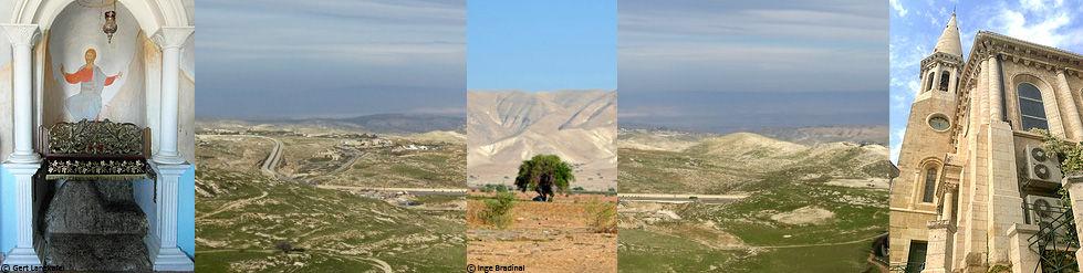 Israel Totes Meer Judäische Wüste Jericho Kloster Qarantal Weihnachstkirche Bethlehem